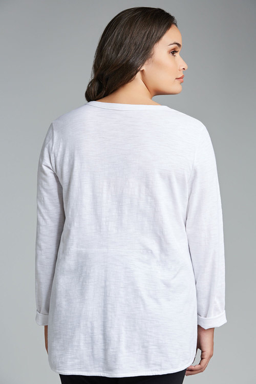 Plus Size - Sara Cotton Slub Tee