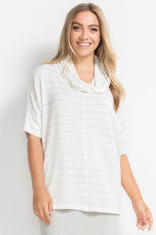 Plus Size - Sara Strech Cowl Neck