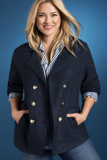 Plus Size - Sara Pea Coat