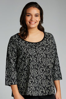 Plus Size - Sara Active Foil Tee