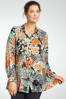 Plus Size - Sara Split Back Shirt