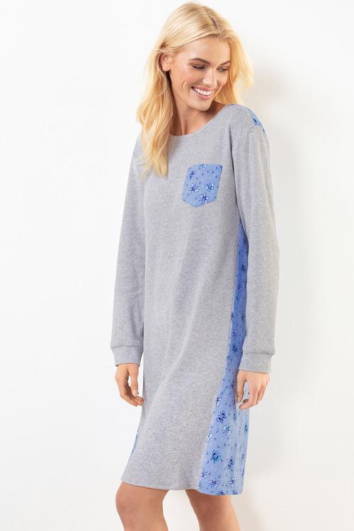 Mia Lucce Long Sleeve Flannel Nightie