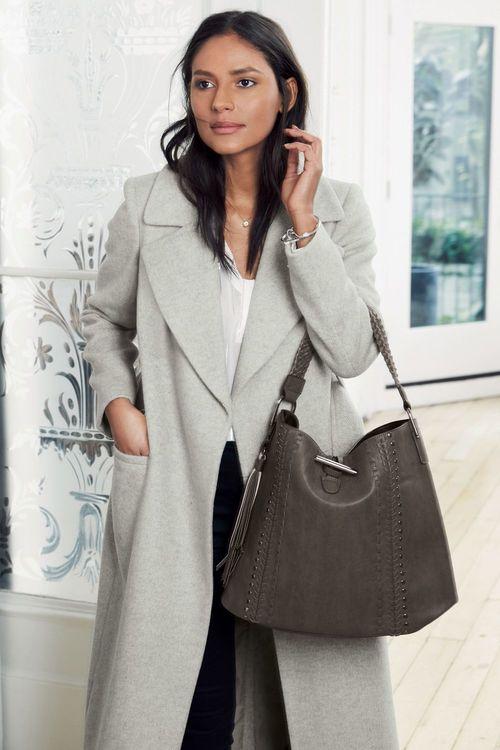 Next Belted Wrap Coat - Petite Online   Shop EziBuy