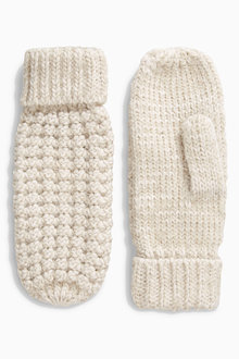 Next Popcorn Knitted Mittens