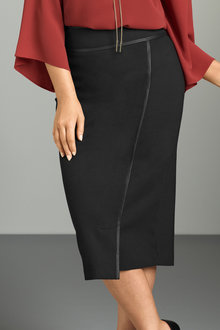 Plus Size - Sara Ponti Wrap Skirt