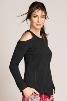 Grace Hill Cashmere Cold Shoulder Jumper