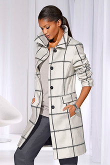 Capture European Maxi Check Coat