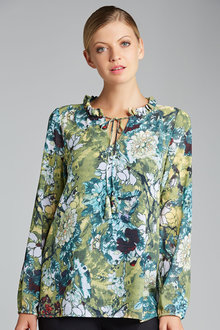 Emerge Ruffle Neck Blouse - 170937