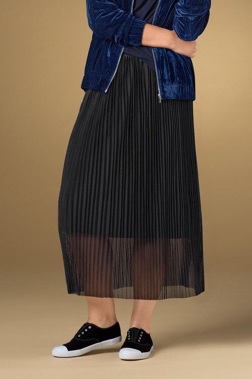 Plus Size - Sara Pleated Tulle Skirt