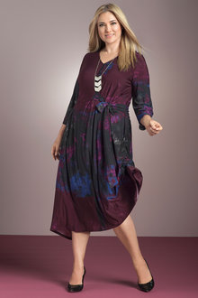 Plus Size - Sara Tie Front Dress