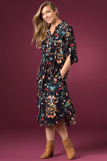 Plus Size - Sara New Shirt Dress