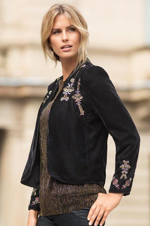 Grace Hill Velvet Jacket