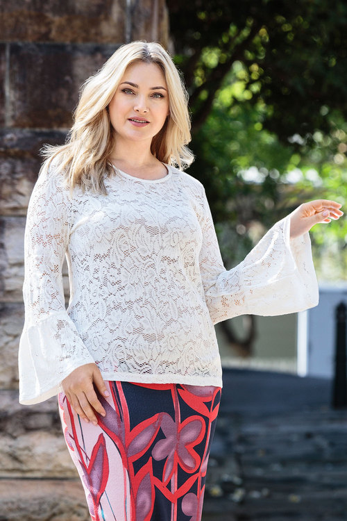 Plus Size - Sara Lace Knit Top