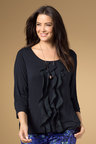 Plus Size - Sara Ruffle Knit Top