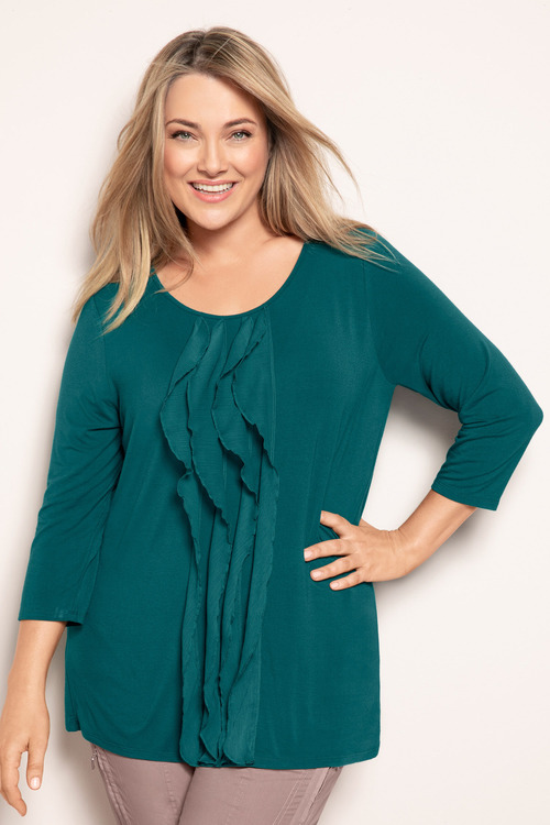 Plus Size - Sara Ruffle Knit Top