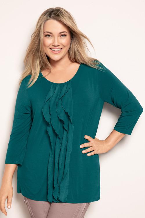 Sara Ruffle Knit Top