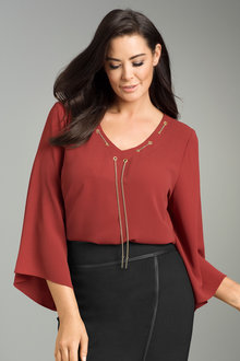 Plus Size - Sara Chain Blouse