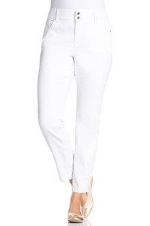 Plus Size - Sara So Slimming Straight Leg Jean - 171378
