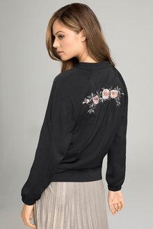 Emerge Embroidered Bomber Jacket
