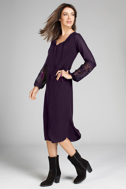 Grace Hill Lace Sleeve Dress