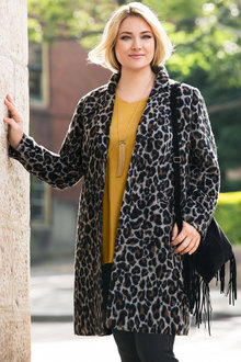 Plus Size - Sara Animal Coat