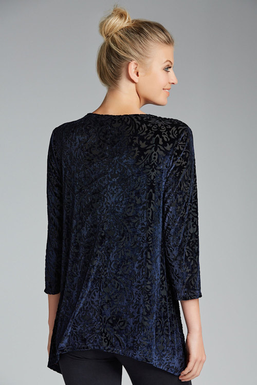 Capture Embossed Velvet Tunic