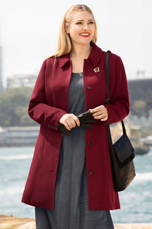 Plus Size - Sara Empire Coat