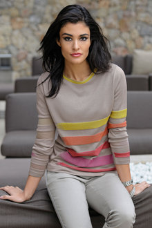 Capture European Stripe Detail Sweater