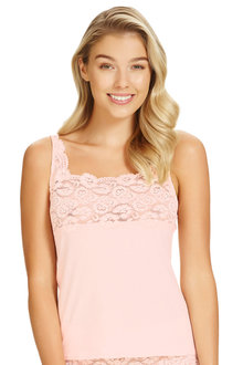 Perfects Cotton and Lace Cami
