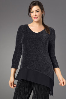 Plus Size - Sara Lurex Tunic