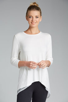 Capture Lace Back Tee - 3/4 Sleeve