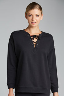 Emerge Lace Up Sweat Top - 171575