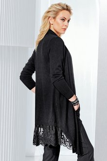 Capture European Lace Hem Cardigan