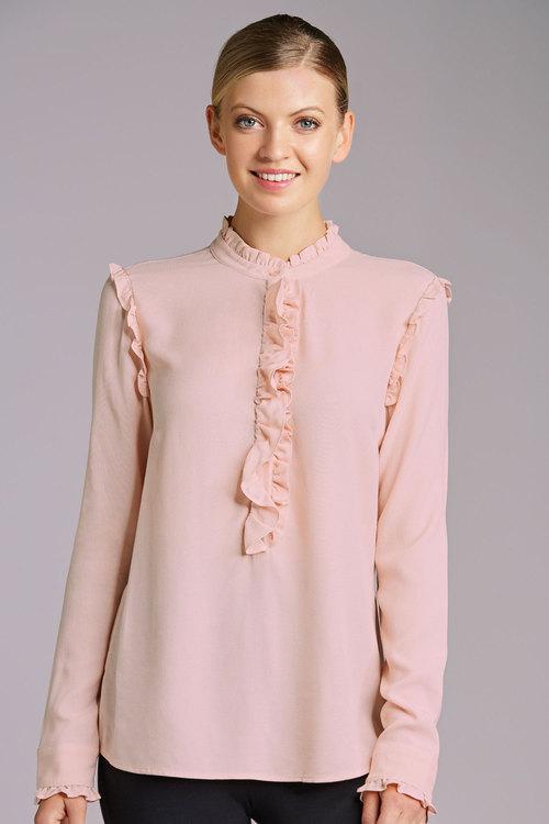 Grace Hill Ruffle Front Shirt