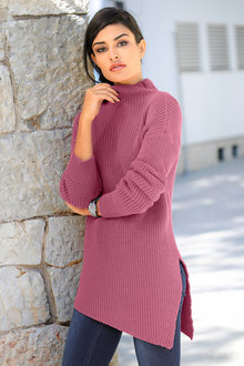 Capture European Assymetric Long Pullover