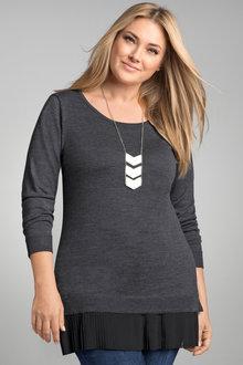 Plus Size - Sara Merino Pleat Tunic