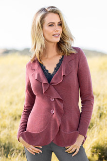 Capture Ruffle Front Cardigan