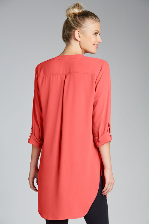 Capture Tab Sleeve Longline Shirt