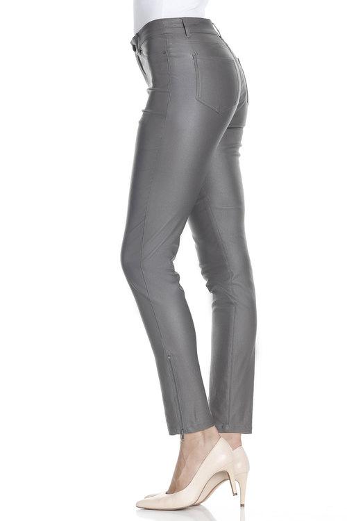 Capture Zip Detail Coated Jean