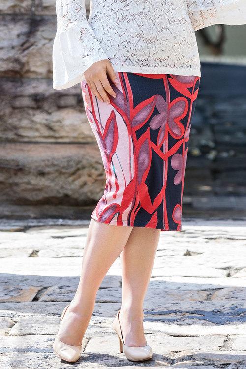 Plus Size - Sara Knit Midi Skirt