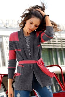 Urban Longline Striped Cardigan