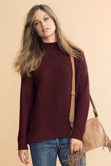 Emerge Funnel Neck Textured Jumper