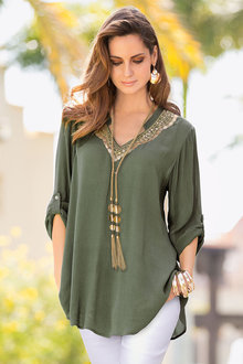 Together Embellished Neck Top