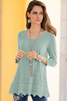 Together Lace Overlay Top