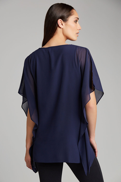 European Collection Embellished Kimono Top
