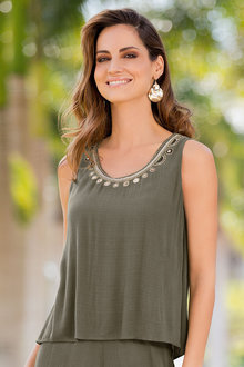Together Crinkle Embellished Top