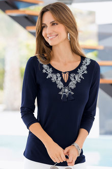 Together Embroidered Top
