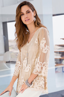Together All-Over Lace Top