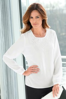 Cature European Embroidery Detail Top