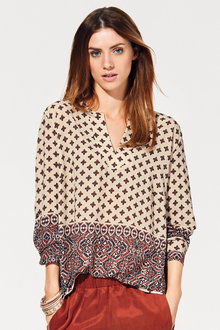 Heine Notch Neck Printed Blouse